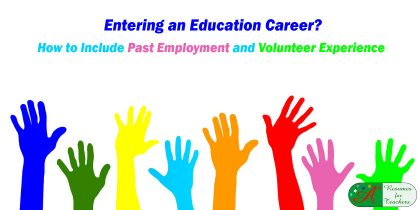 Including Past Employment and Volunteer Experience to Make a Career Change