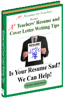 teacher resume and cover letter writing tips