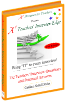 a teachers interview edge. Resume Example. Resume CV Cover Letter