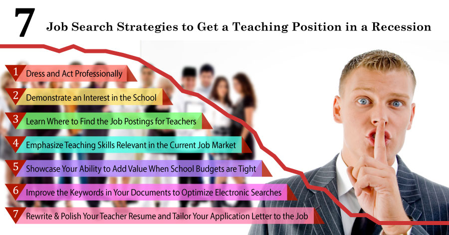 7 Job Search Strategies to Get a Teaching Position in a Recession