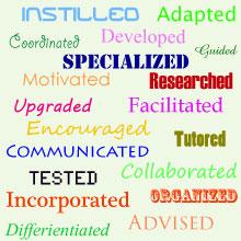 Action keywords for educators