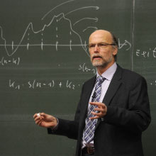 Adjunct professor giving a lecture