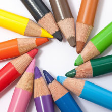 Colored pencil crayon tips