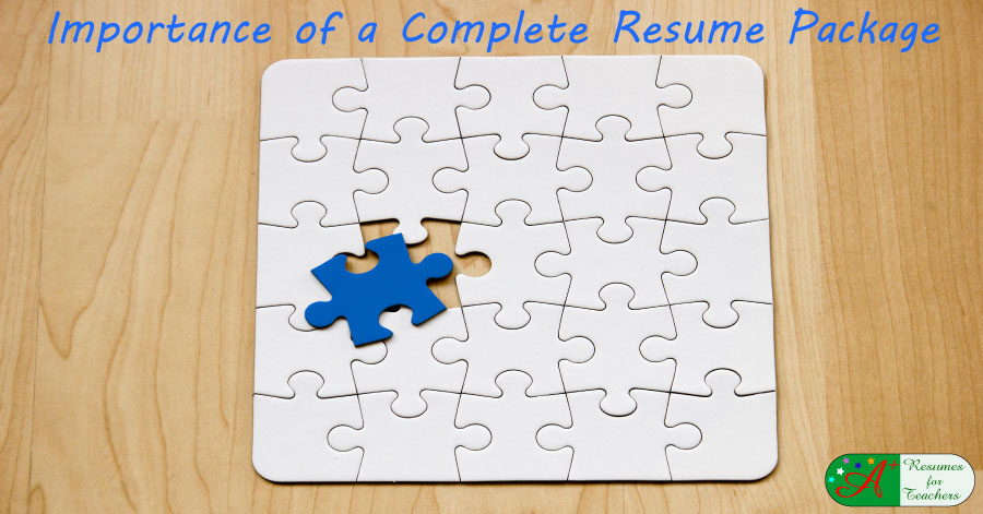 importance of a complete resume package