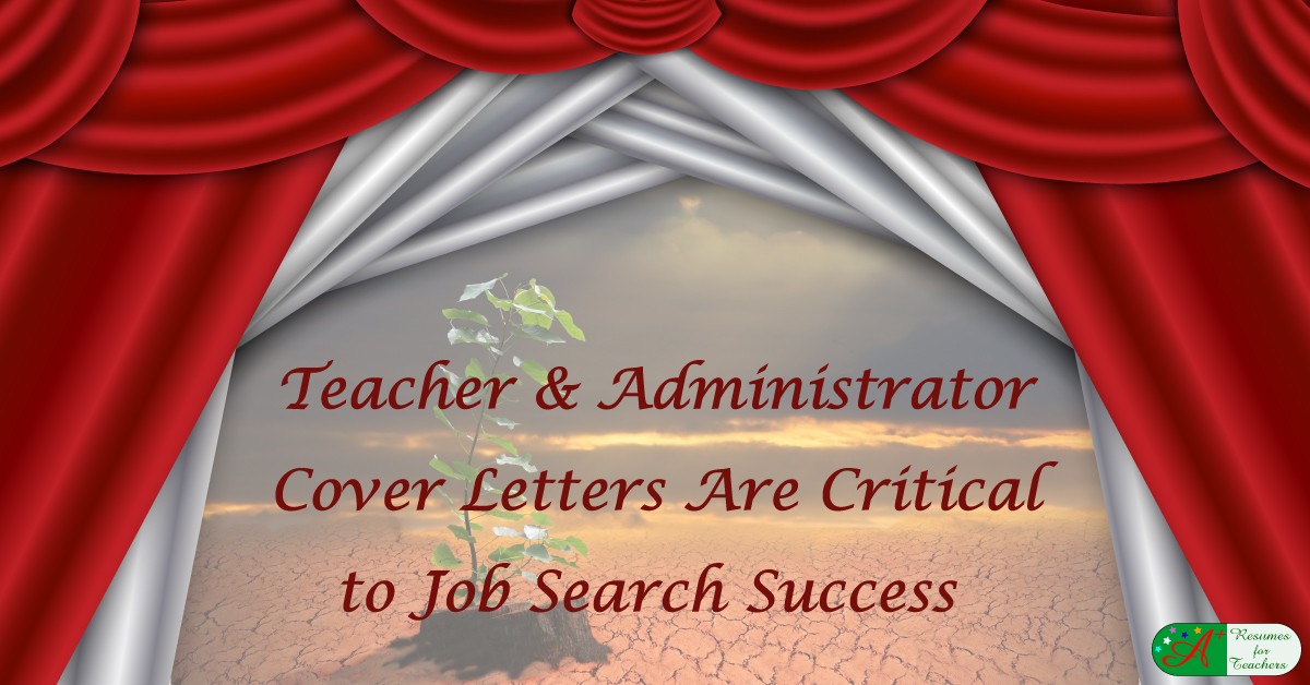 A Teacher Cover Letter is Critical
