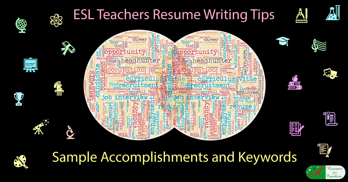 esl teachers resume writing tips