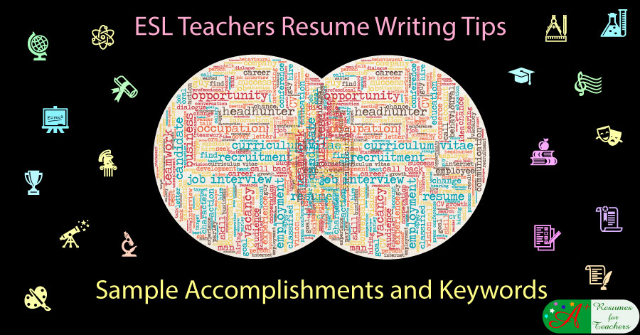 esl teachers resume writing tips sample accomplishments and keywords