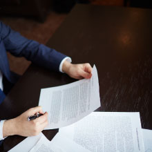 Man reviewing some documents