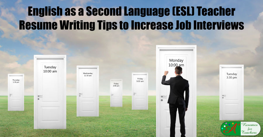 esl teaching resumes