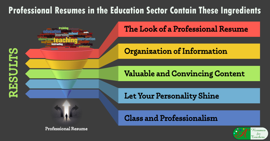 Professional Resumes in the Education Sector Contain These Ingredients