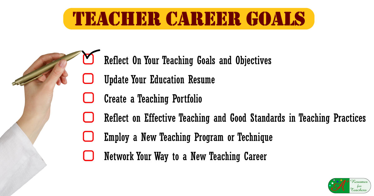 A+ Resumes For Teachers  Career Goals And Objectives