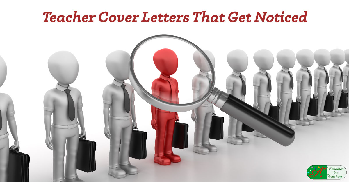 teacher cover letters that get you noticed