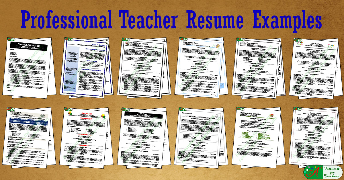15 A Teacher Resume Examples A Resumes For Teachers