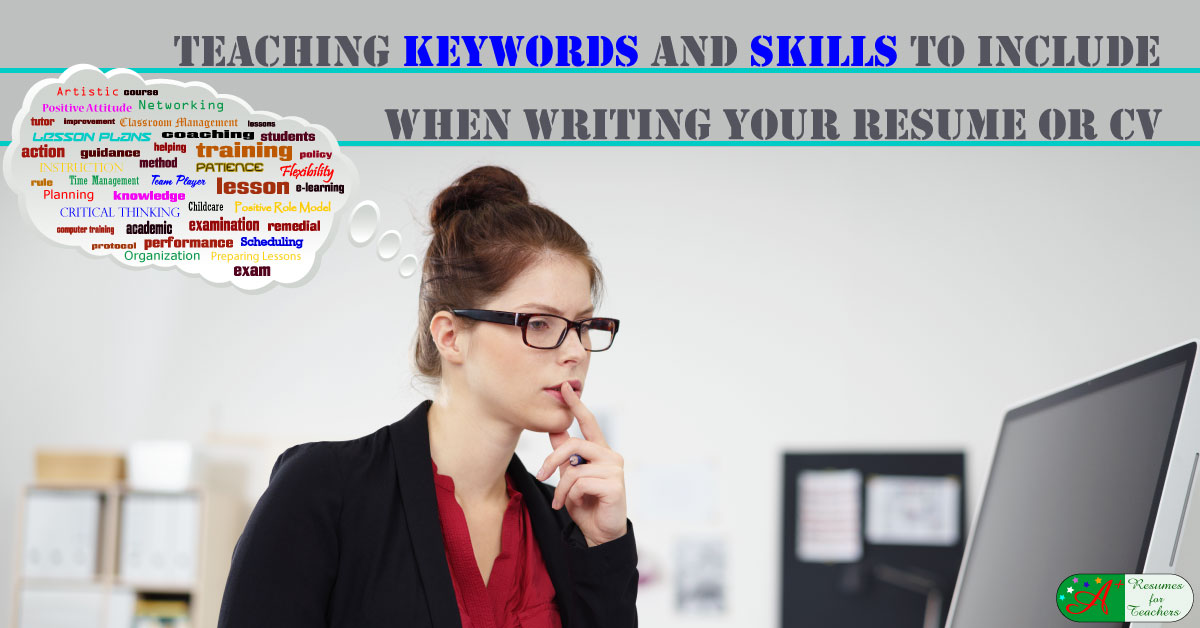 teaching keywords and skills to include when writing your