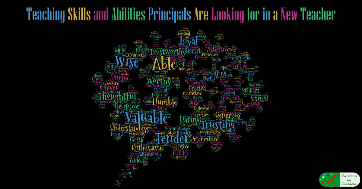 teaching skills and abilities principals are looking for