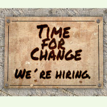 Sign saying time for change