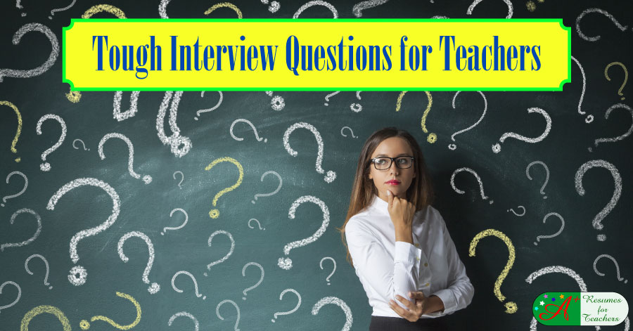teacher thinking about tough interview questions
