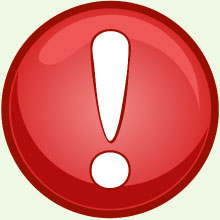 Red warning button