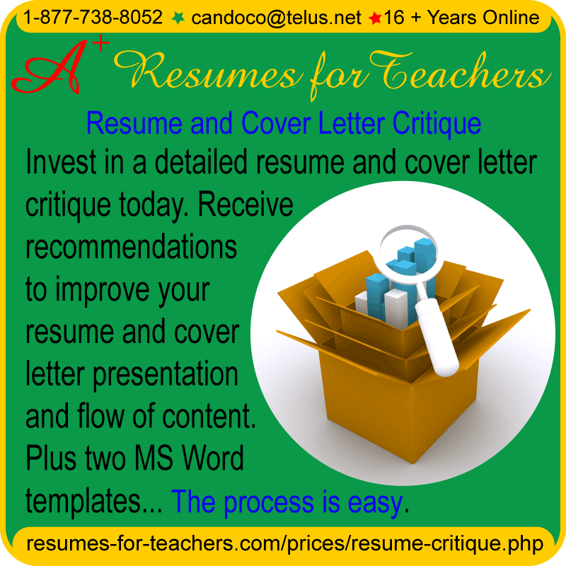 get a resume and cover letter critique - Cover Letter Critique